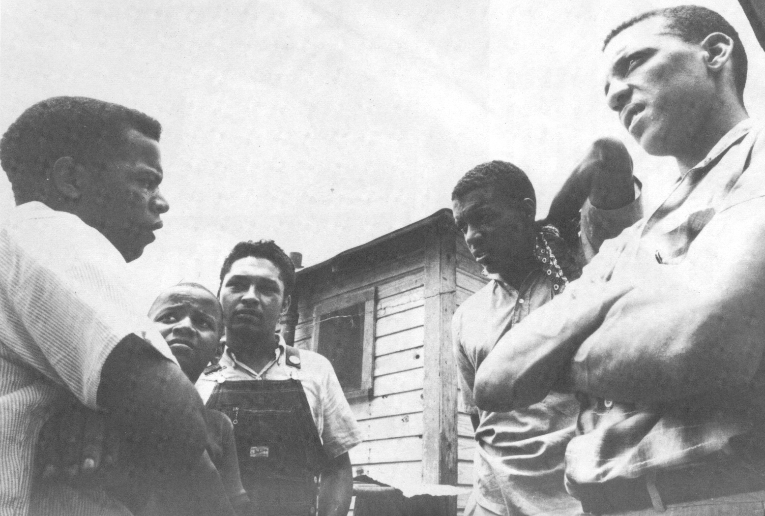(Left to Right) John Lewis, unidentified boy, Mateo Suarez, Jerome Smith, and Dave Dennis, undated, crmvet.org