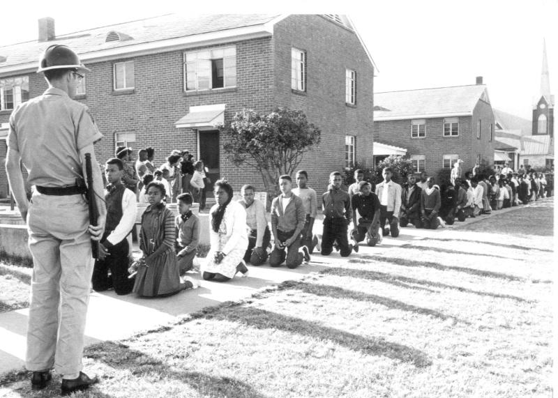Image result for mlk kneeling at Selma