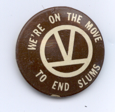 [SCLC pin from the Chicago Freedom Movement, 1966]