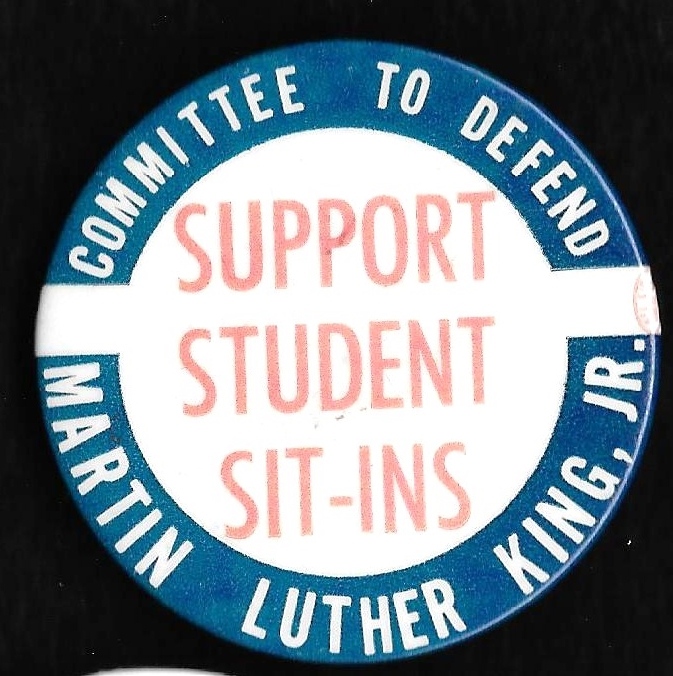 [MLK Support Student Sit-Ins pin]