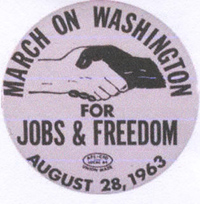 [March on Washington pin]
