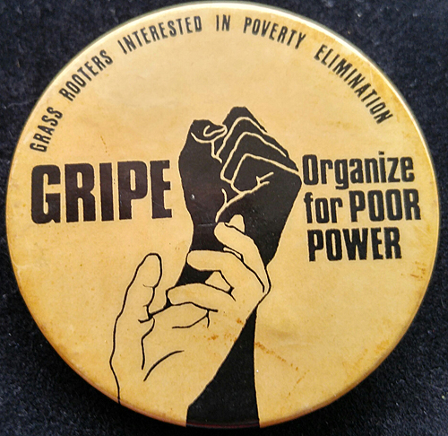 [Grass Rooters Interested in Poverty Elimination pin]