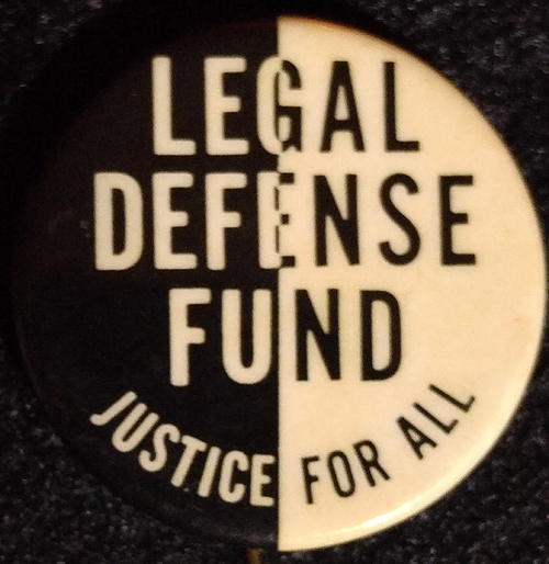 [NAACP Legal Defense Fund pin]