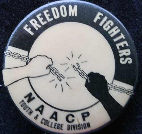 [NAACP Youth & College Division pin]