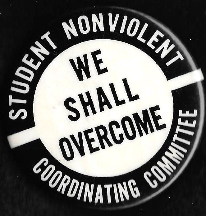 [SNCC We Shall Overcome pin]
