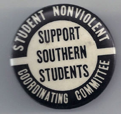 [Support Southern Students SNCC pin]