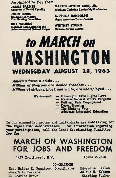 [March on Washington Flyer]